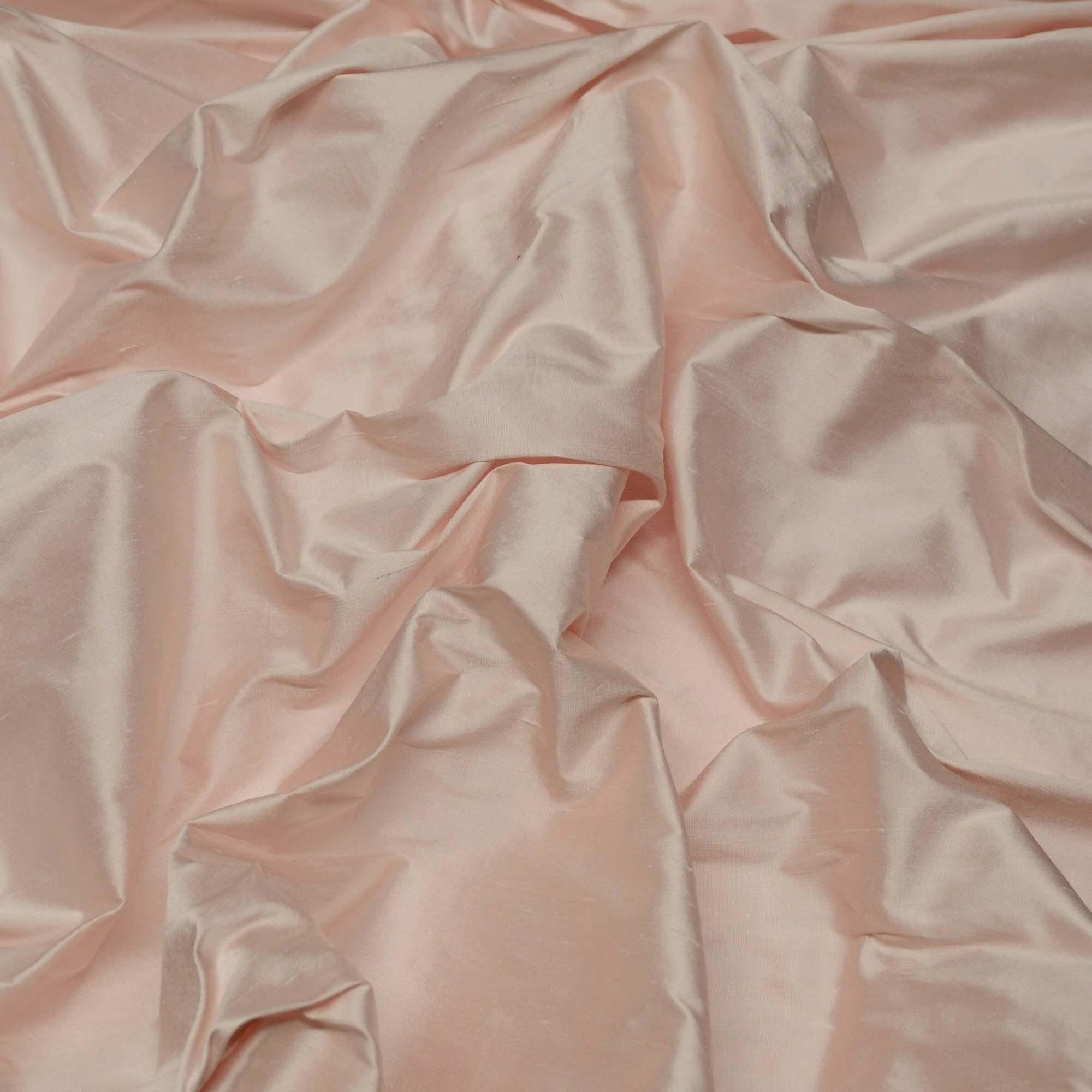 SF-5081: Baby Pink Shantung Silk, 100% Silk